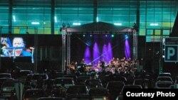 """Од концертот """"Генерации"""" на Биг бендот на ЗЏМ со кој започнаа 43. ДЕнови на македонска музика фото: Зденко Петровски"""