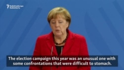 Merkel Says Parts Of U.S. Campaign Were Hard To Stomach