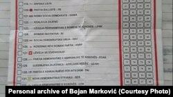 Marković tvrdi da mu je izborni listić za parlamentarne izbore na Kosovu 14. februara sa zaokruženim imenom jedne od bošnjačkih političkih subjekata iz Mitrovice, Adrijanom Hodžić dao gradonačelnik Raniluga.