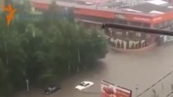 Во Владикавказе бушует стихия