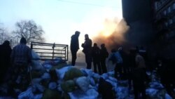 Утро на баррикадах в Киеве