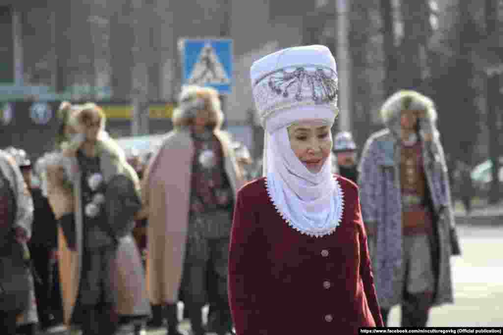 Токтогул атындагы Мамлекеттик сыйлыктын лауреаты, Кыргыз Республикасынын Эл артисти Назира Мамбетова.
