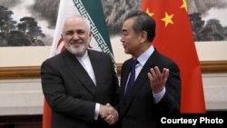 Իրանի և Չինաստանի ԱԳ նախարարներ Մոհամադ Ջավադ Զարիֆ և Վան Ի, Թեհրան, 26-ը մարտի, 2021թ․