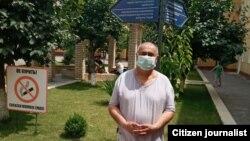 Baxtiyor Karim Toshkent shahridagi Covid-karantin lageriga Teri-tanosil kasalliklari klinikasida. 2020, 26 iyun