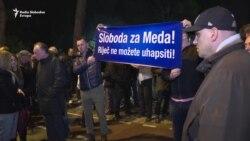 Protest DF-a ispred Skupštine Crne Gore