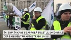 """""""Cerem autostrada Marii Uniri!"""" Un protest la București"""
