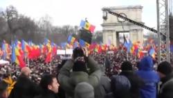 Массовый протестный митинг в Кишиневе