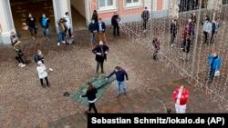 Трир шаҳридаги (Германия) ҳодиса юз берган жой, 2020 йил 1 декабри.