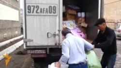 Лагерь эвакуированных из зон затопления в Темиртау