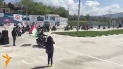 начало мотоциклетного сезона в Душанбе