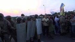 Михаил Саакашвили и его сторонники прорывают границу