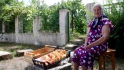 Бабушка с персиками, или Как живет крымское село у «марсианского озера» (видео)
