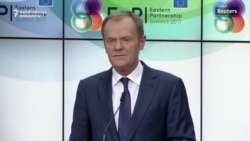 EU's Tusk Slams Russian 'Aggression' In Ukraine