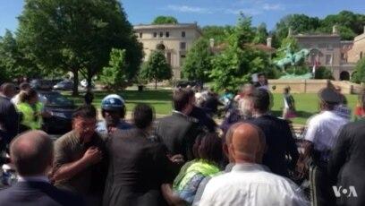 Tuča ispred Ambasade Turske u Vašingtonu