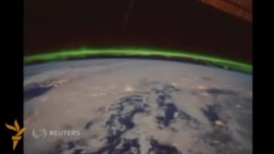 ХКС астронавти шимолий қутб ëғдусини видеога олди