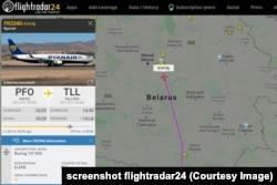 Рэйс Патас — Талін ідзе празь Беларусь праз суткі пасьля скандалу з самалётам Ryanair, які ляцеў з Атэнаў у Вільню.