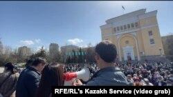 Протест проти посилення впливу Китаю в Казахстані, 27 березня 2021 року