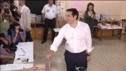 Aleksis Cipras na biralištu