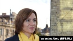 Moldova -- Maia Sandu, PAS leader, presidential candidate, Chisinau, Nov 3, 2020