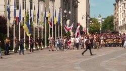 Представники «Національного корпусу» вимагали у президента громадянство для добровольців-іноземців – відео