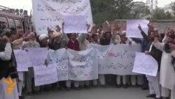 Të zhvendosurit në Pakistan protestojnë