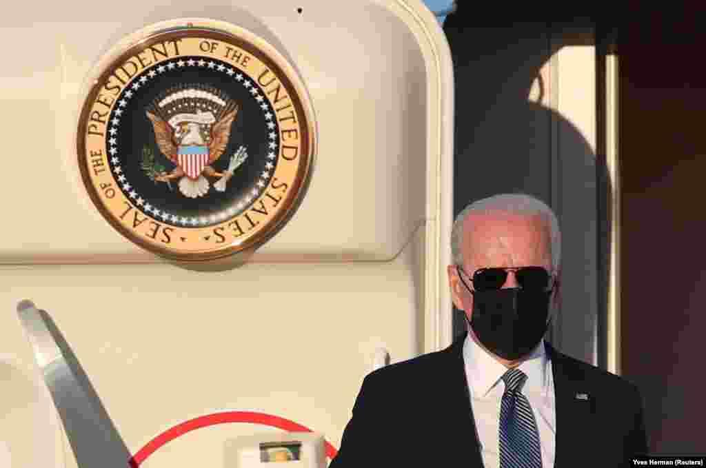 Joe Biden amerikai elnök megérkezett Brüsszelbe.