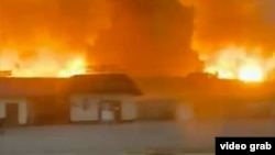 The blasts occurred at a military base in Kazakhstan's Zhambyl Region