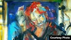 """Едно од делата на Касиопеја Наумовска од изложбата """"Без наслов"""""""