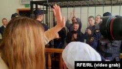 Илустрација, белоруски суд води рочиште против дел од демонстрантите кои учествуваа на минатогодишните протести против Лукашенко