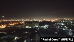 Город Душанбе. Вечер 13 февраля
