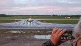 A Ryanair eltérített gépe a minszki landolás után, 2021. május 23-án