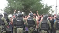 Migrants Protest On Greek-Macedonian Border