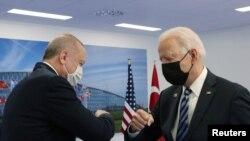 AB, prezidenti Joe Biden və Türkiyə prezidenti Racep Tayyip Erdogan-NATO sammiti