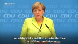 Merkel 'Delighted' By Macron's Electoral Victory