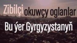Gyrgyzystan: Zibilçi okuwçy oglanlar