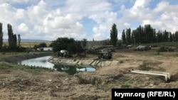Земляная плотина на реке Биюк-Карасу