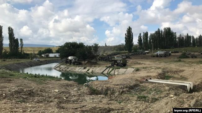 Земляная плотина на Биюк-Карасу