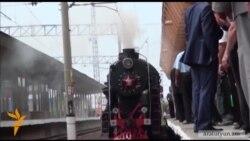115 տարի անց 1-ին անգամ Գյումրի ժամանած գնացքը կրկին կայարանում էր