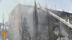 Пожар в общежитии в Баку