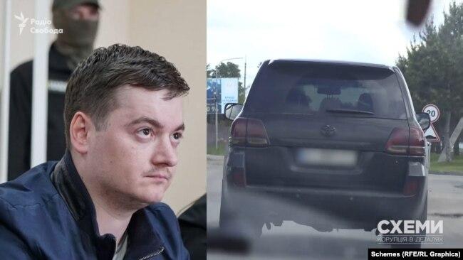 До комплексу заїжджало авто Сергія Карамушки – обвинуваченого в одержанні хабаря у майже 50 тисяч доларів і нині звільненого співробітника спецслужби