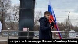Школьник Александр Разин из Красноярска