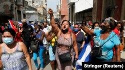 حامیان دولت ، هاوانا ، 11 ژوئیه 2021