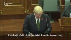 Pjesë nga fjalimi i Boris Johnsonit në Kuvendin e Kosovës
