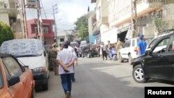 صحنه انفجار در روستای عین قانا