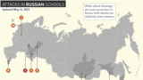 Locator map - Timeline - Attacks in Russian Schools - EN