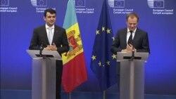 Conferința de presă comună a Președintelui CE, Donald Tusk, cu premierul Chiril Gaburici