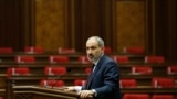 ARMENIA -- Armenian Prime Minister Nikol Pashinyan addresses the parliament in Yerevan, November 16, 2020