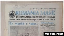 O ediție a revistei România Mare de la începutul anilor 1990.
