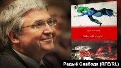 Лешэк Шарэпка і вокладка кнігі «Беларускі снайпэр»