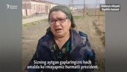 """Фермернинг онаси: """"Президент гапларини амалда кўрмаяпмиз"""""""
